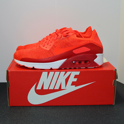 Picture of Nike Air Max 90 Ultra 2.0 Flyknit Bright Crimson Men's Size 10.5 Sneakers