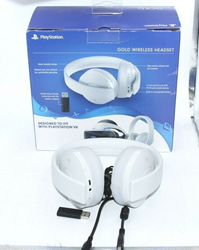 Picture of Sony Interactive Entertainment Gold Wireless Headset, PS4, White