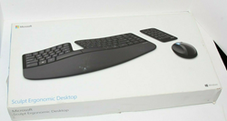 Picture of Microsoft Sculpt Ergonomic Wireless Desktop Keyboard and Mouse (L5V-00001)
