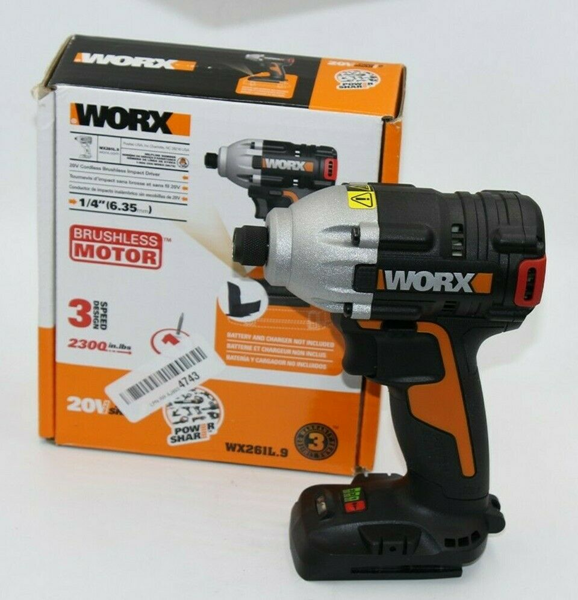 Picture of Broken WORX WX261L 20V MaxLithium Cordless Brushless (3) Speed Impact Driver