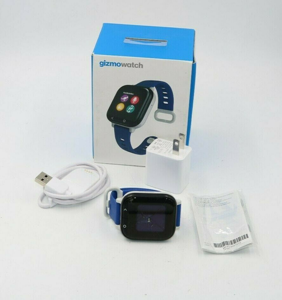 Picture of Broken Gizmowatch Gizmo Watch Smartwatch Verizon Wireless - Black With Blue Band