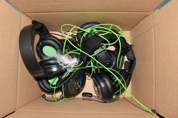 Picture of Lot of 9 | Untested | PDP Afterglow AG 6 AG6 Xbox One Wired Gaming Headset #016