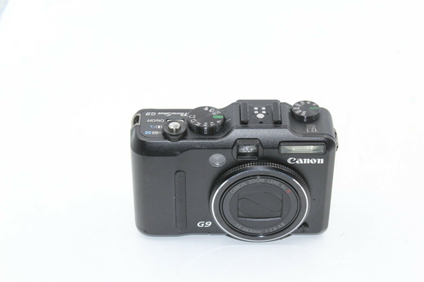 Picture of Untested | Canon PowerShot G9 12.1MP Digital Camera - Black #7282