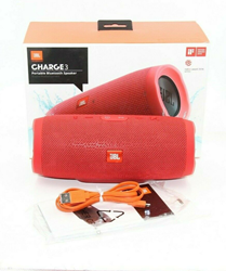 Picture of JBL Charge 3 JBLCHARGE3REDAM Portable Waterproof Speaker System - Red