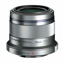 Picture of Brand New | Olympus M.Zuiko Digital 45mm f/1.8 ED Lens (Silver) - 1105