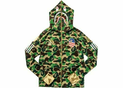 Picture of Bape x Adidas Consortium Super Bowl Football - Green Camo Hoodie - Size XL