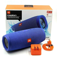 Picture of JBL Charge 3 JBLCHARGE3BLUEAM Portable Waterproof Speaker System - Blue