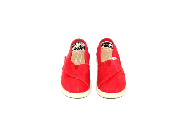 Picture of Tiny Toms Baby/Toddler Shoes- Unisex Boy Girl- red Slip On Casual Size 7