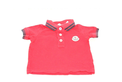 Picture of Used | Boys Moncler Tshirt 3-6 Months - Red