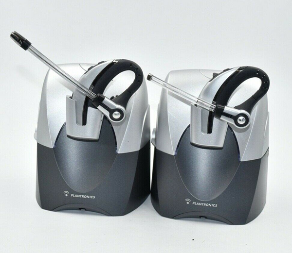 Picture of Broken 2 pcs - Plantronics CS70 NC Over-The-Ear Wireless Office Headset System