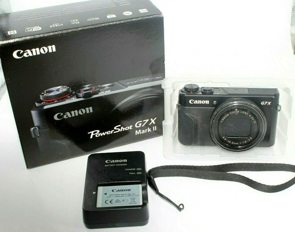 Picture of USED Canon G7X Mark II PowerShot 20.1MP Digital Camera - Black SN:0711