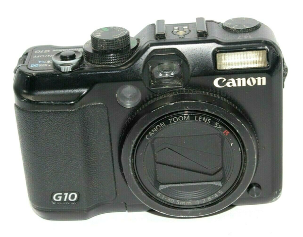 Picture of Broken Canon PowerShot G10 14.7 MP Digital Camera - Black