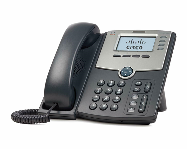 Picture of Cisco SPA504G 4-Line IP Phone with 2-Port Switch PoE and LCD Display