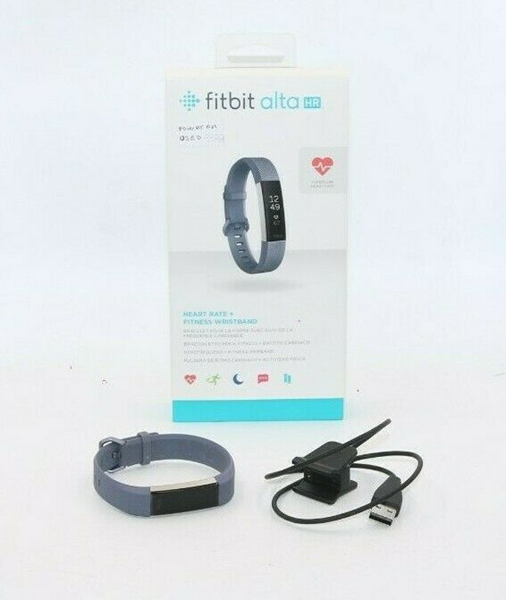 Picture of Fitbit ALTA HR Heart Rate + Fitness Wristband BLUE GRAY (Large) #1105