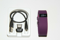 Picture of FitBit Charge HR Activity Fitness Heart Rate Tracker - Purple (Large) #1105-1789