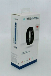 Picture of Used | Fitbit Charge 2 Heart Rate + Fitness Wristband, Black, Large | 1105