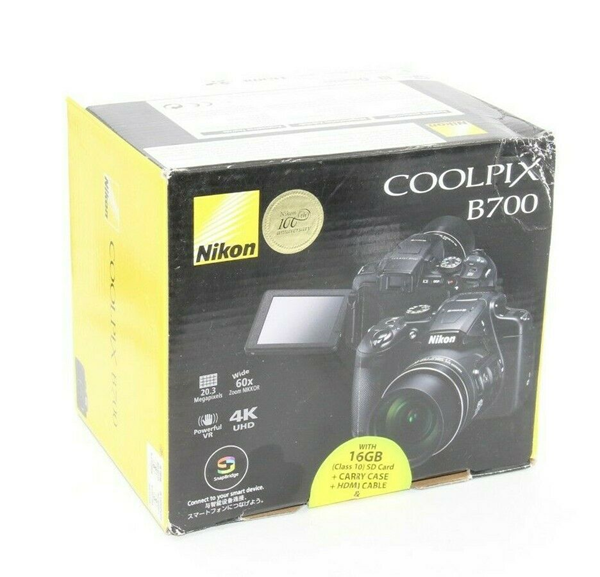 Picture of Brand New | Nikon COOLPIX B700 Black Compact Digital Camera
